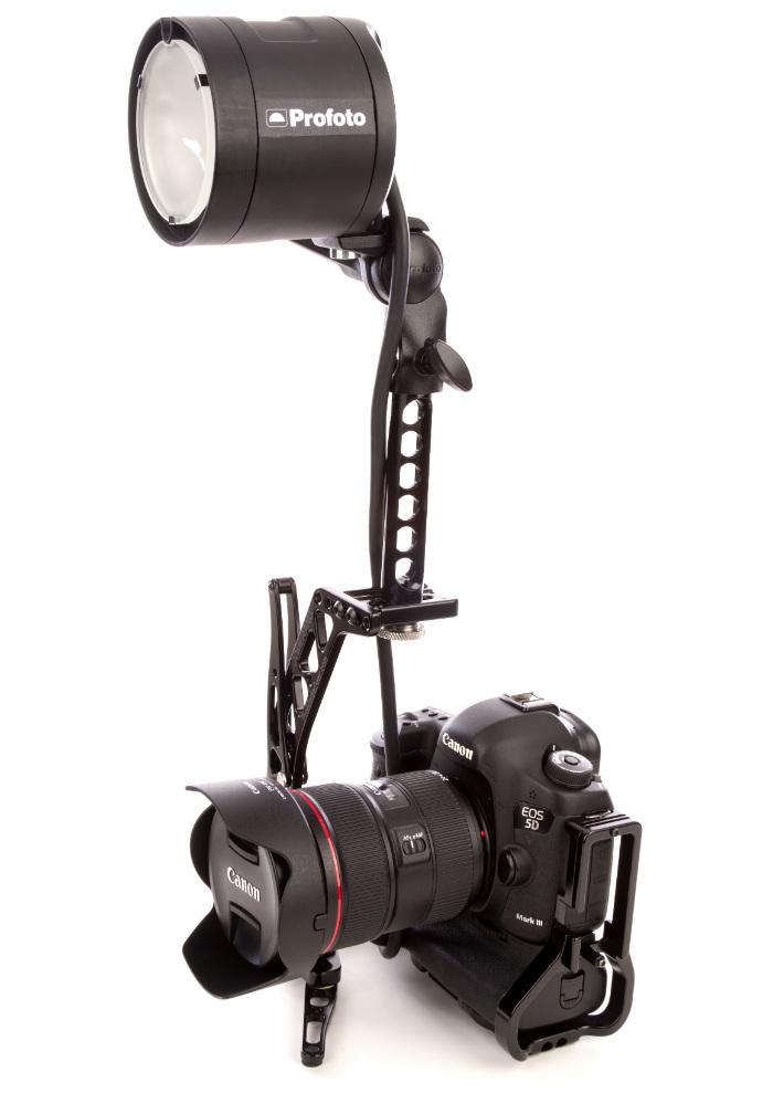 Canon 5D Mark III with Profoto B2 Head and Promedia Gear Boomerang Flash Bracket