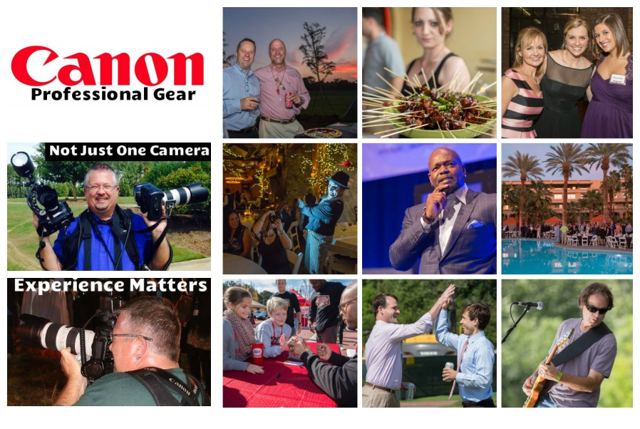 Corporate Event Collage with David Pictured