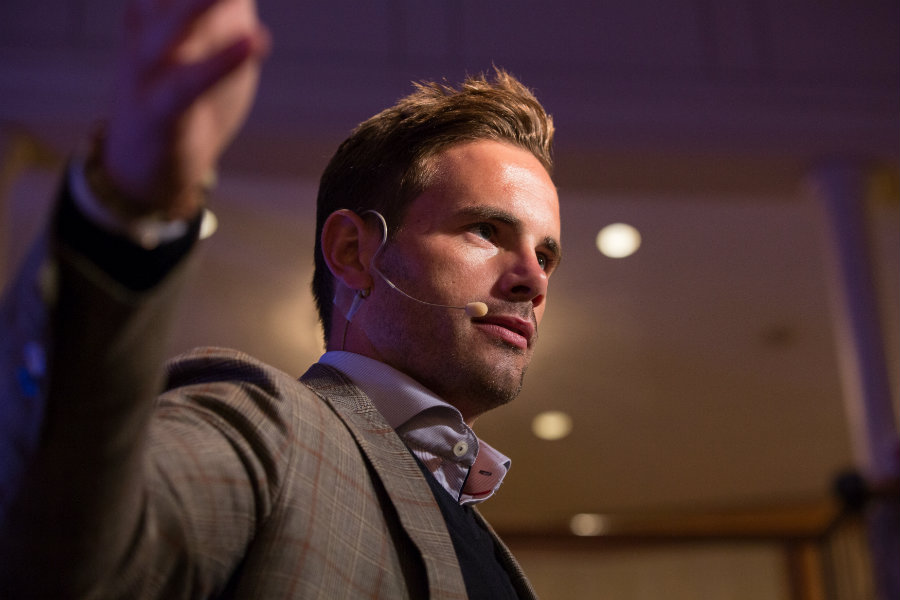 Keynote Speaker At Corporate Event