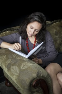Young Woman Writing in Her Journal