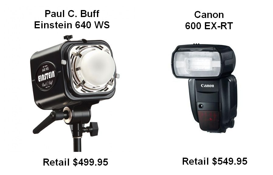 Studio Strobe vs. Speedlite