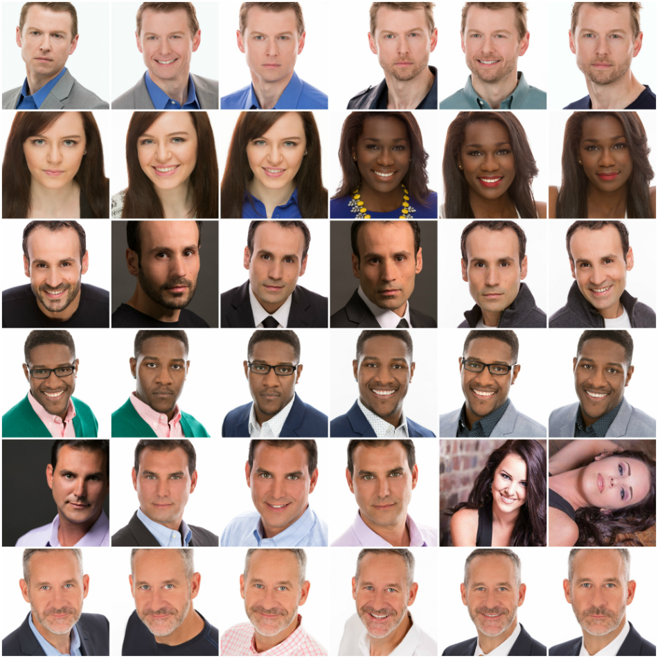 Acting Headshots Raleigh NC Collage 950