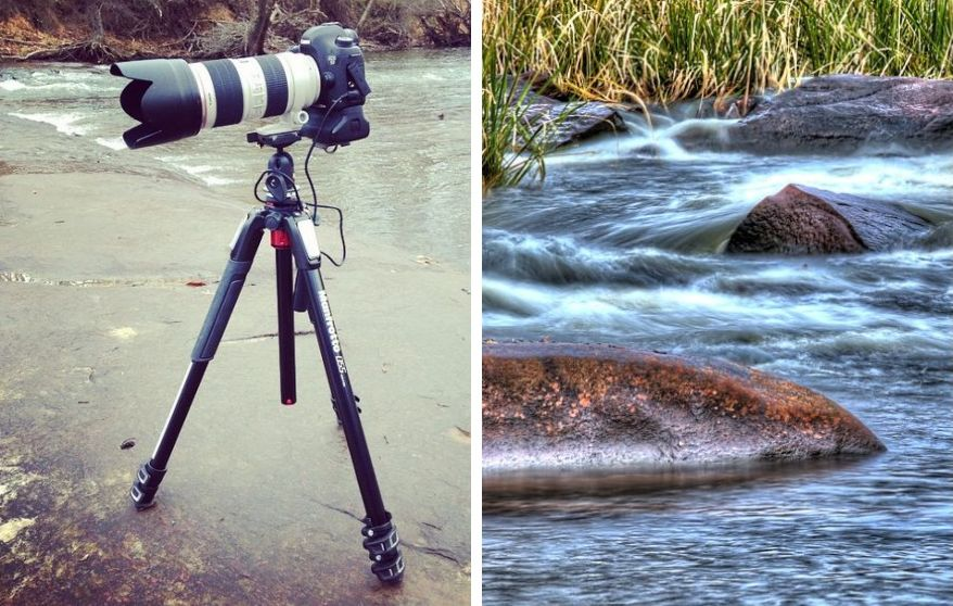 Left Image - Canon 5D Mark III On Manfrotto Tripod - HDR Image On Right