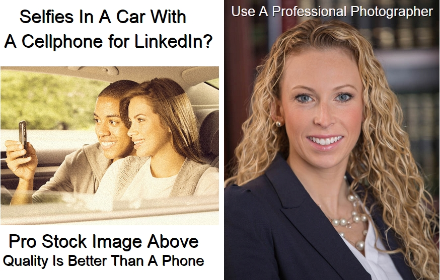 LinkedIn Selfies In a Car