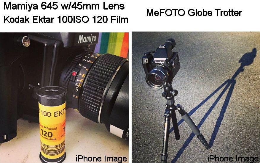 Mamiya 645 (45mm Lens) Kodak Ektar 100ISO 120 Film and MeFOTO Globe Trotter Tripod