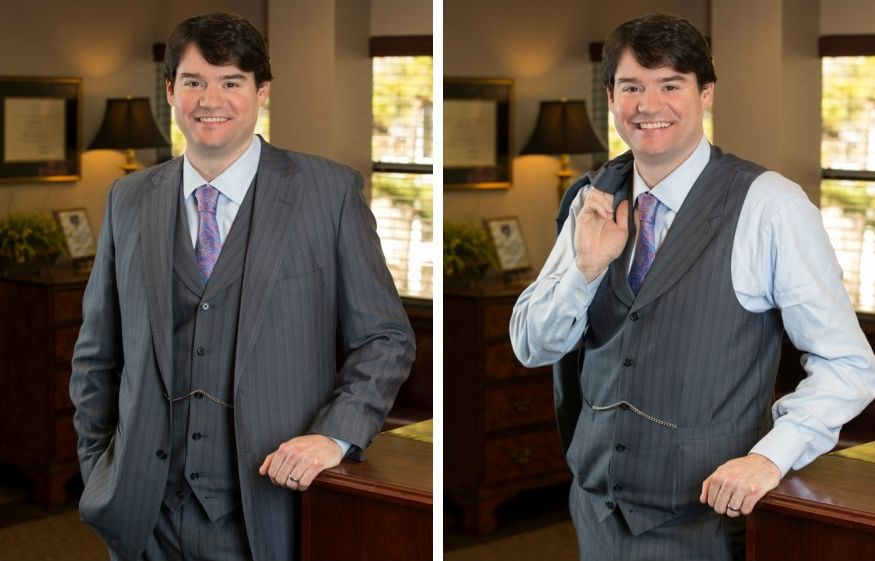 Prominent Raleigh Attorney Photographed At His Raleigh Office