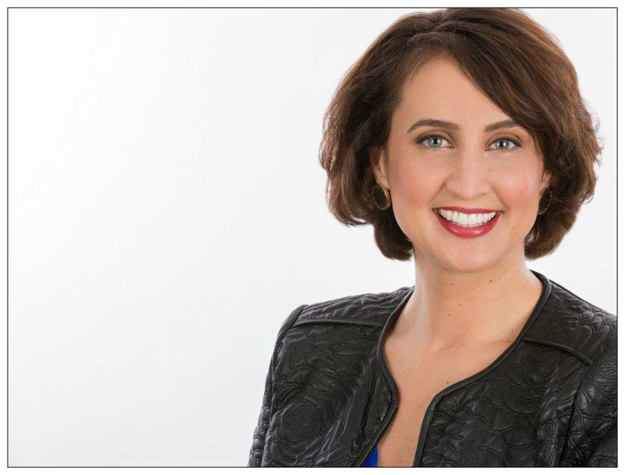 Female Horizontal Headshot on White Background Taken in Raleigh Studio