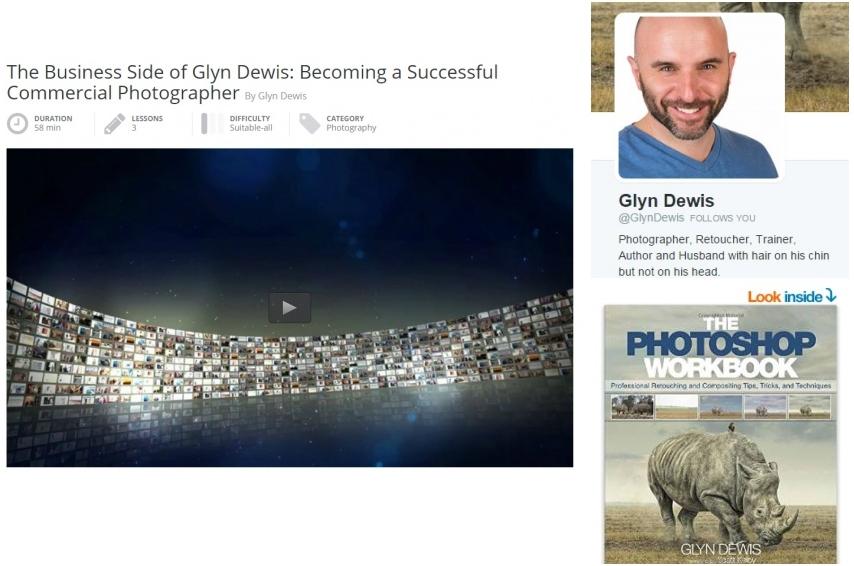 Glyn Dewis Collage Kelby, Twitter, Book