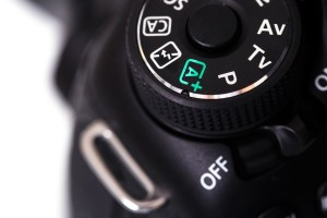Close up of DSLR camera