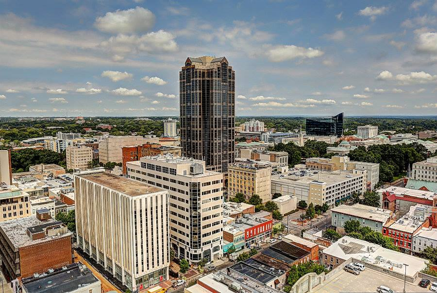 The View From The 23rd Floor Of SkyHouse In Downtown Raleigh