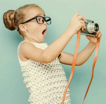 Surprised Girl with Camera