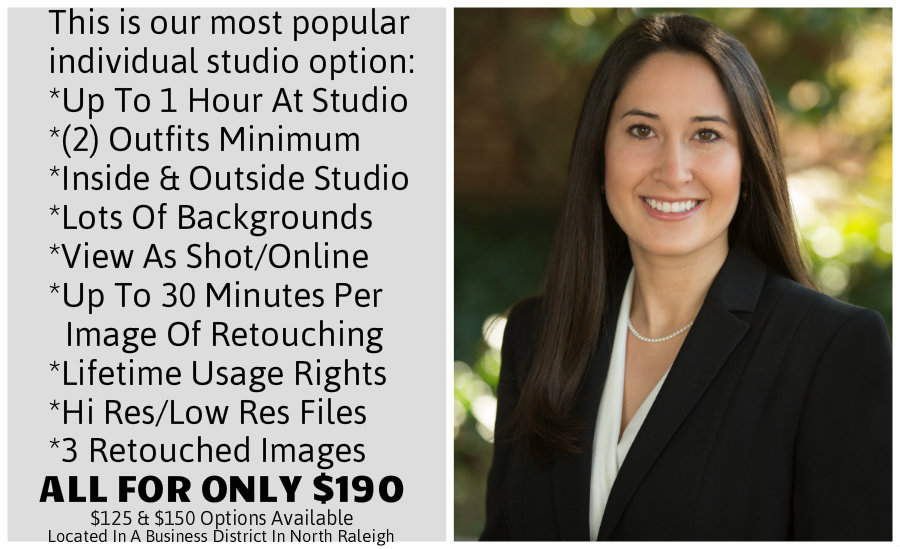 1 Outdoor Headshot In North Raleigh With Pricing