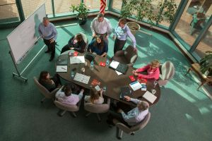 Commercial Photography in RTP of Team Training in Atrium.jpg